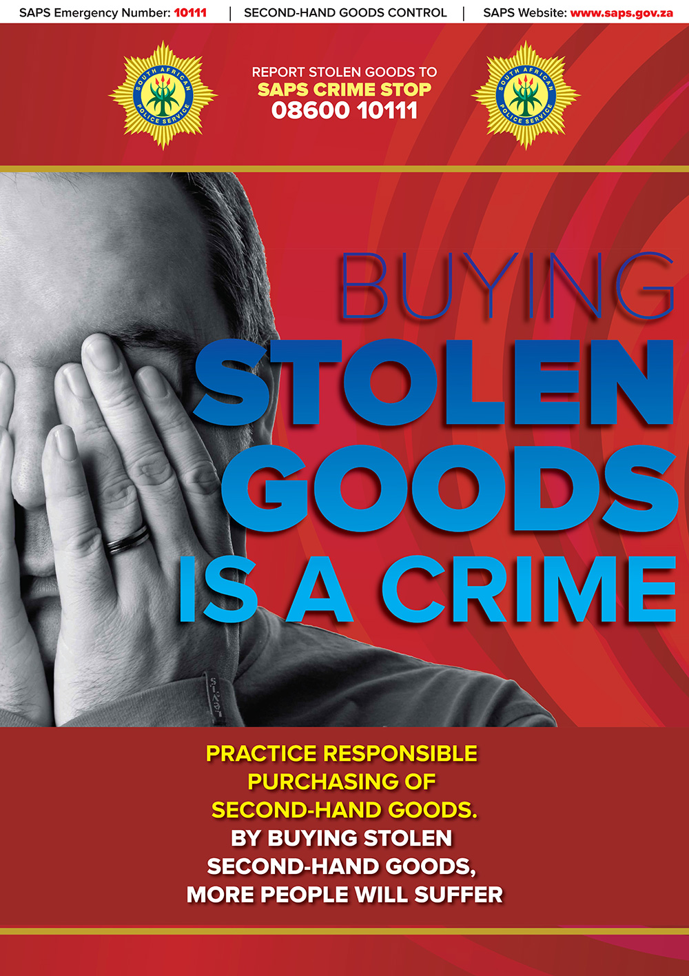 Buying Stolen Goods is a Crime Poster