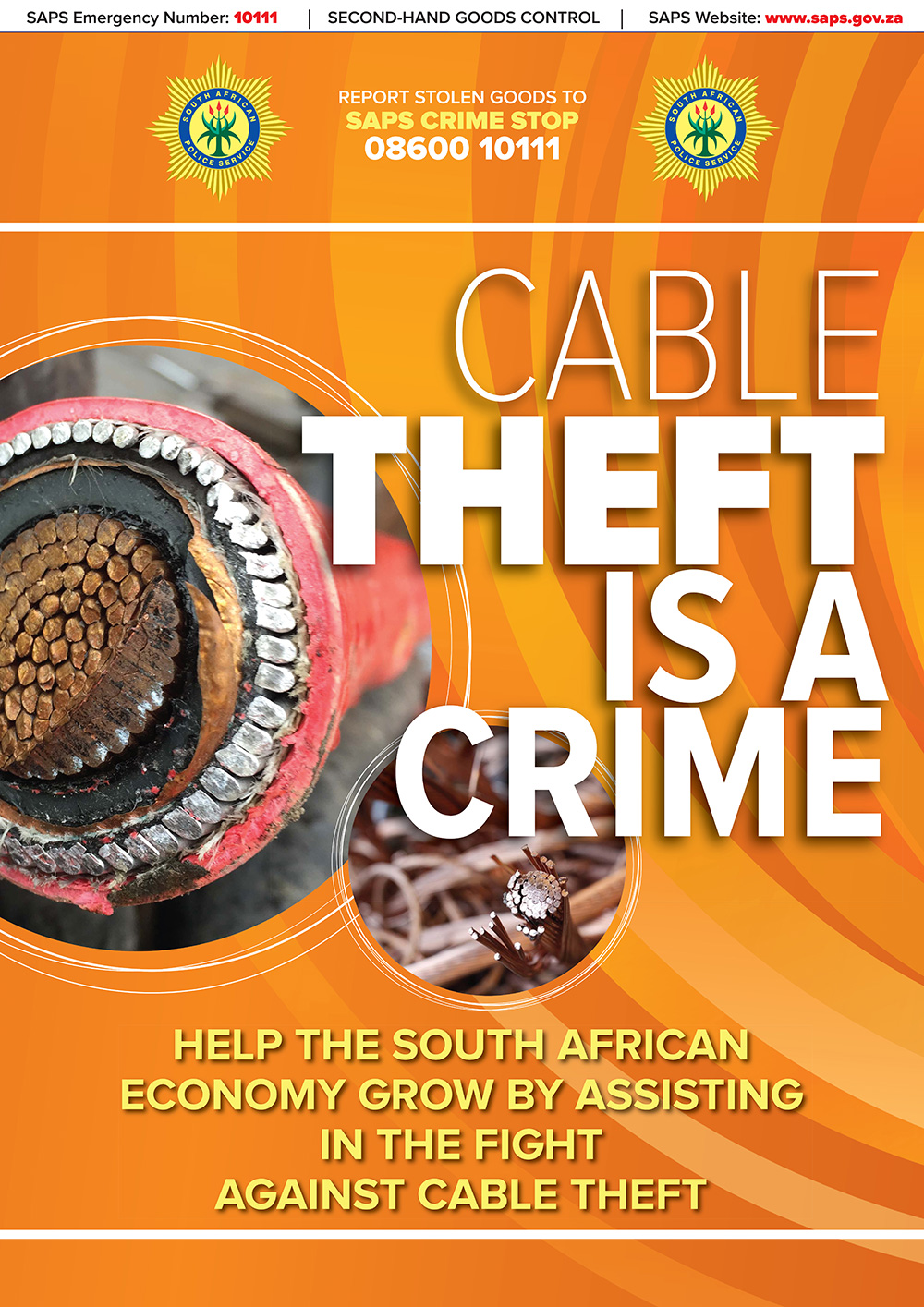 Cable Theft is a Crime Poster